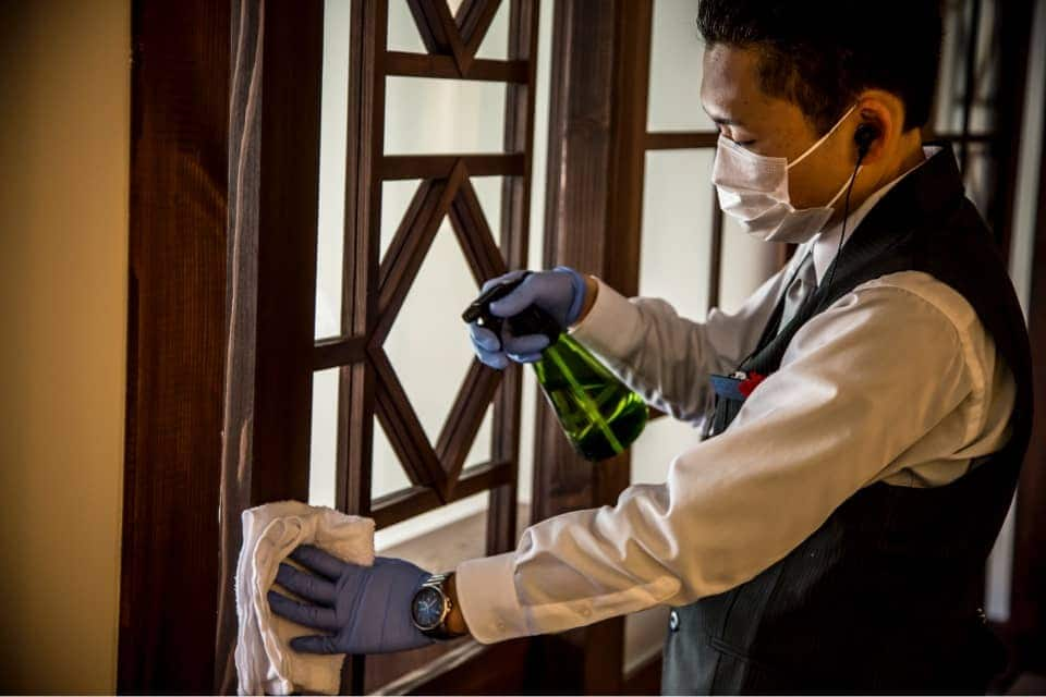 Hygiene management of private dining rooms